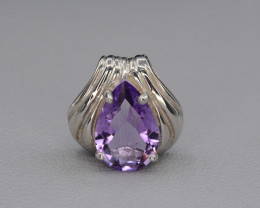 Natural Amethyst 15.42 Cts Silver Pendant