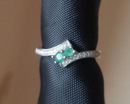 Natual Emerald Ring
