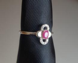 Natural Beautiful Ruby Ring