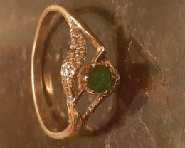 certified natural   emerald silver ring