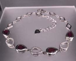 7.11 cts Natural Red Glass Filled Ruby Bracelet    SKU : 5