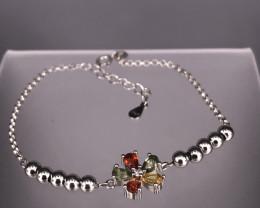 3.42 Gm Natural Multi Color Sapphire Bracelet  SKU : 4