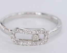 BUBBLING NATURAL DIAMONDS IN 18K WHITE GOLD RING