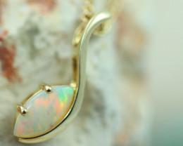 Cute Crystal Opal set in 14k Yellow Gold Pendant CK 567