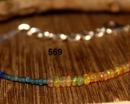 Lapis, Apatite, Tanzanite & OPAL Beads Bracelet 569
