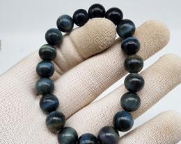 Natural Blue Tiger Eye Bracelet 150.00 Carats