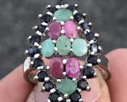 Natural Multi Stone Ring
