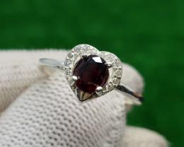 Natural Almandine Garnet Ring