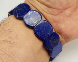 Natural Blue Lapis Lazuli Bracelet 168.00 Carats