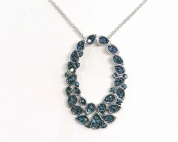 Blue Diamond Pendant 0.30TCW.