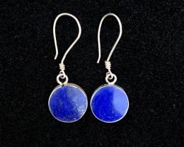 Lapis Lazuli Earrings Sterling Silver 925