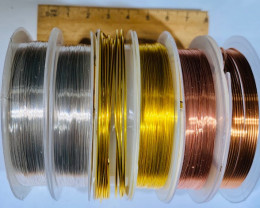 Six  Rolls Copper and Crystal wire  AHA  574