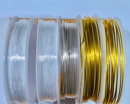 Five  Rolls Copper and Crystal wire  AHA  577