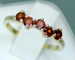 Stylish Natural Garnet 925 Silver Ring