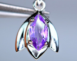 Natural Very Nice Design Amethyst 925 Silver Pendant