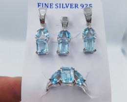 Swiss Blue Topaz Set