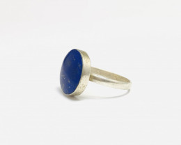 13 Cts Lapis Lazuil 925 Silver Ring