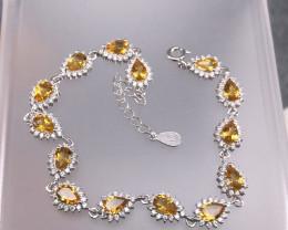 10.39 Gram Natural Citrine Bracelet