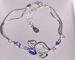 4.31 Gram Natural Purple Tanzanite Bracelet  SKU : 10