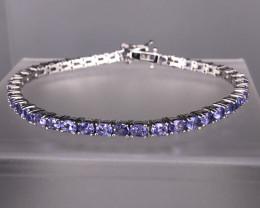 11.00 Gm Natural Purple Tanzanite8 925 Silver Bracelet by DANI Jewellery  S