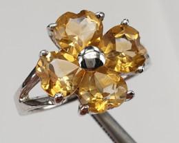 Natural Citrine gorgeous Ring