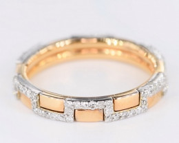 CLASSY RING WITH DIMONDS - SIZE 7