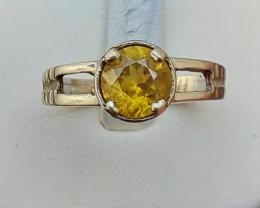 Natural Sphene 925 Silver Ring
