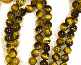 470.5 Tcw. Tiger Eye Prayer Bead Necklace 32 inches - Gorgeous