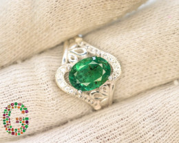 21.45 Ct Ring ~With AAA Clarity Afghan Emerald Stone