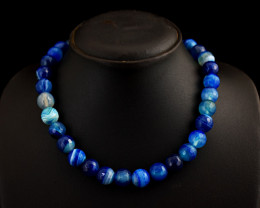 "Genuine Onyx Beads Necklace of 20"""