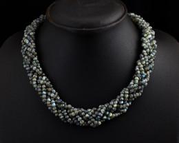"Genuine Labradorite  beads Necklace of 18"""