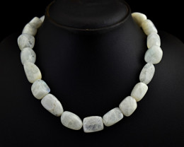 """Genuine Moonstone Beads Necklace of 18"""""""