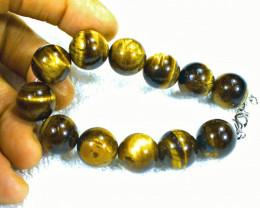 364.0 Tcw. Tiger Eye Bracelet 17mm Pieces - Gorgeous