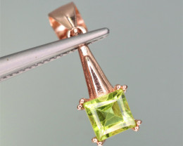 Beautiful Natural Peridot & 925 Sterling  Silver Pendant