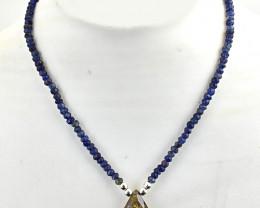 """Genuine Faceted Iolite & Smoky Quartz Beads Necklace Of 22"""""""