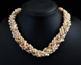 """Genuine Pink Australian Opal Beads Necklace Of 18"""""""