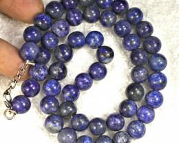 515.5 Tcw. Lapis Lazuli Necklace 11mm Stones - Gorgeous