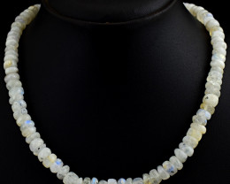 """Genuine Moonstone Beads Necklace of 20"""""""