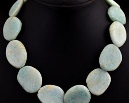"Genuine Amazonite Beads Necklace of 18"""