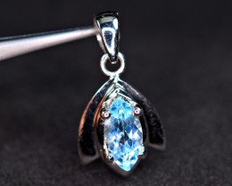 Natural Very Nice Design Swiss Topaz 925 Silver Pendant