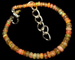 16 Crts Natural Ethiopian Welo Opal Beads Bracelet 74