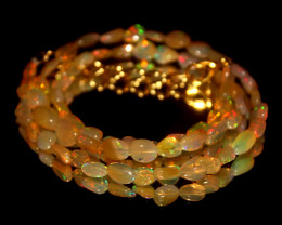 30.65 Crts Natural Ethiopian Welo Opal Nuggets Necklace 164