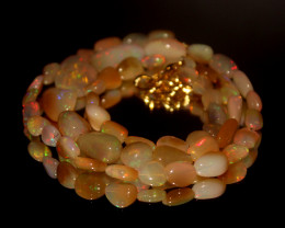 48.90 Crts Natural Ethiopian Welo Opal Nuggets Necklace 179