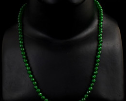 """Genuine Faceted Onyx Beads Necklace Of 20"""""""