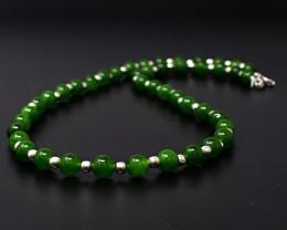"Genuine Jade Beads Necklace of 20"""