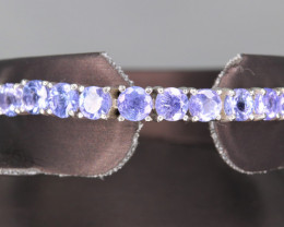 Beautiful Natural Tanzanite & 925 Silver Fancy  Design Bracelet
