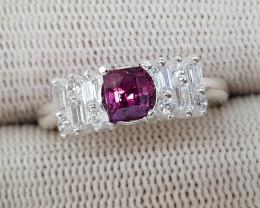 Natural Kashmir Sapphire 15.60 Carats 925 Silver Ring