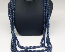Natural Blue Kyanite 144.40 Grams Necklace
