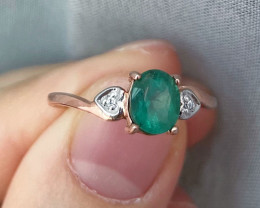Natural Zambian Emerald Pink Gold Over Sterling Silver 5