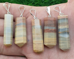 Natural Calcite 925 Silver Pendants